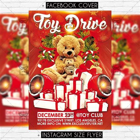 Toy Drive Premium Flyer Template Exclsiveflyer Free And Premium Psd Templates Toys For Tots Email Template