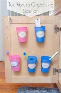 Organizing toothbrushes amp toothpaste out of sigh handy organization