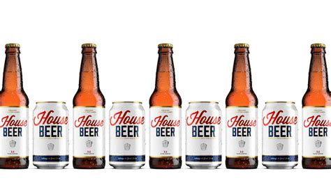 house beer always in good taste house beer s simply beautiful brand the dieline packaging branding