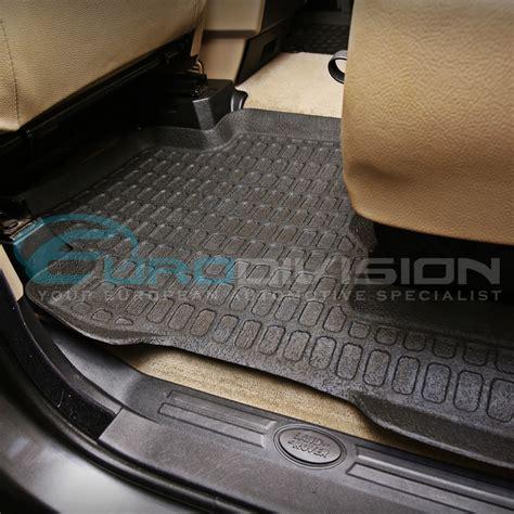 Inside Floor Mats by Land Rover Discovery 4 Rubber Interior Floor Mats Ebay