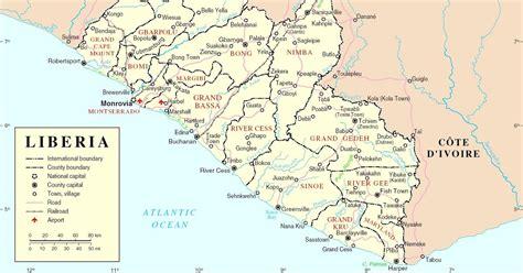 map of liberia liberia reference maps of liberia