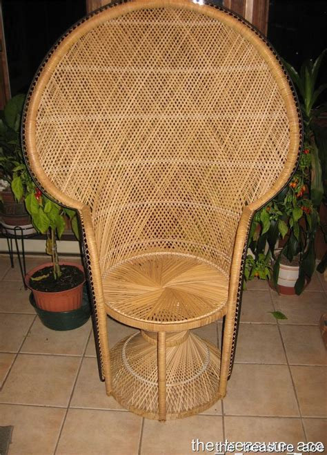 fan back wicker chair used once wicker peacock fan back chair hollwood regency