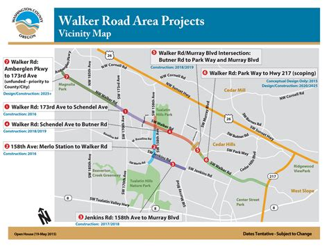 the road map project walker road 173rd to schendel