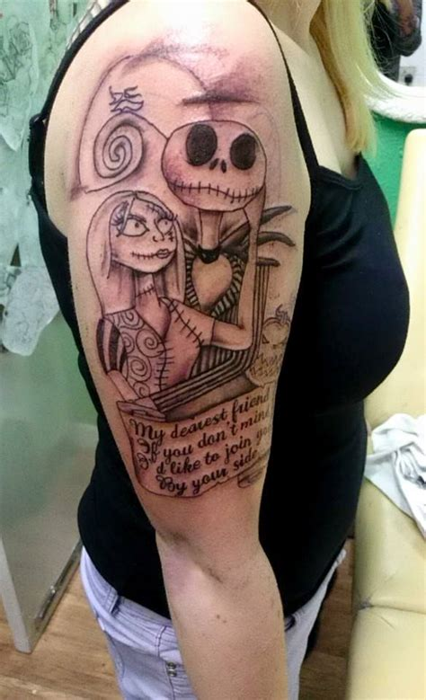 jack and sally tattoo designs and sally half sleeve creativefan