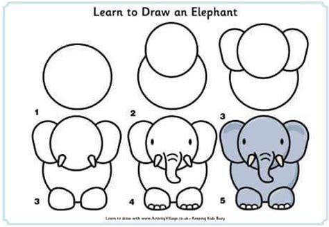 tutorial menggambar gajah belajar menggambar untuk anak anak