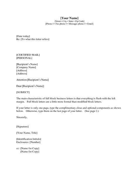Formal Business Letter Format Enclosure Letter Format Cc And Enclosure Best Template Collection