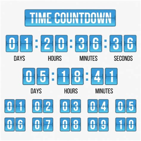 countdown chart template time countdown template vector free