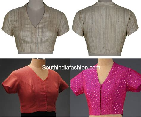 neck pattern blouse design collar neck blouse fashion trends south india fashion
