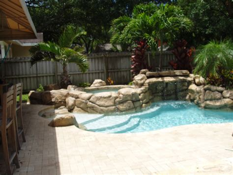 backyard grotto spool pools for small yards