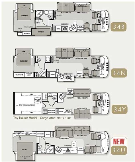 four winds rv floor plans four winds hurricane class a motorhome floorplans large