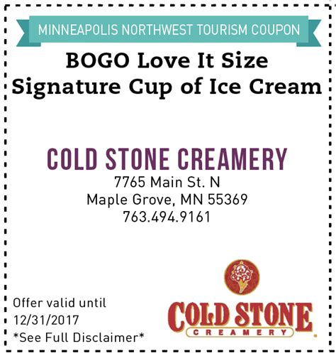 Activate Cold Stone Gift Card - coupons deals discounts for minneapolis saint paul metro area minneapolis northwest