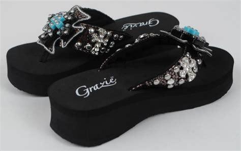grazie sandals grazie flip flop shoes black faith cross jeweled
