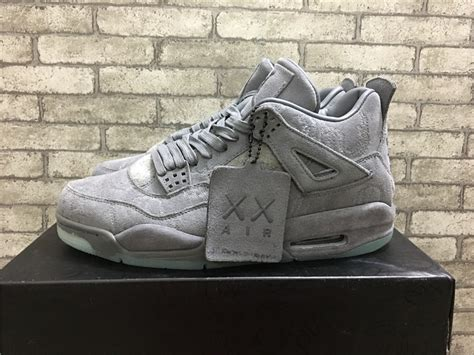 Air 4 Cool Grey Release by Cheap Kaws X Air 4 Cool Grey White 2017 Release Hoop
