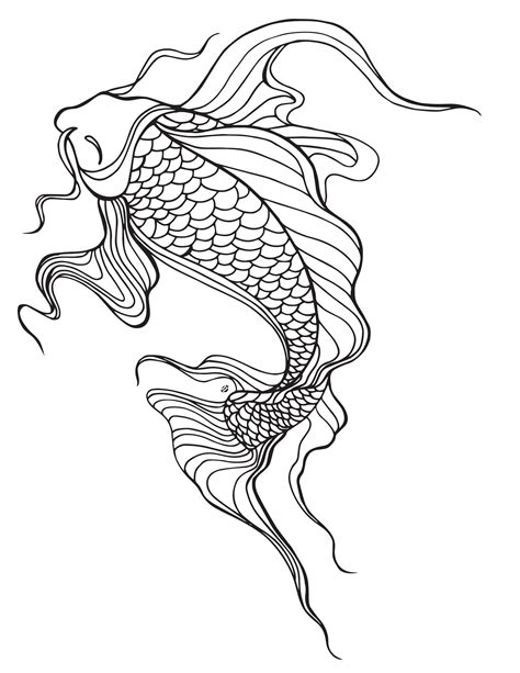 japanese fish coloring pages lostbumblebee 169 2015 mdbn grown up colouring coloring
