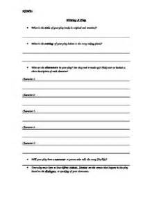 play writing template language arts writing a play script basic outline template