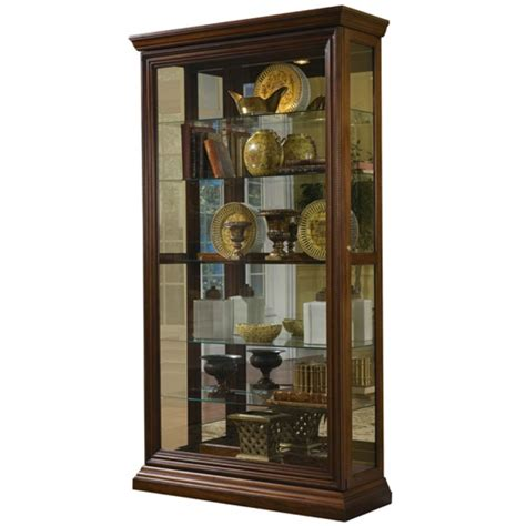corner curio cabinet amazon amazon com pulaski two way sliding door curio 43 16 80