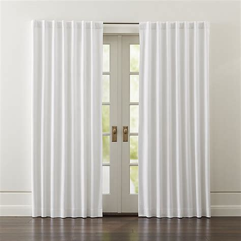 white curtain panels wallace white blackout curtains crate and barrel