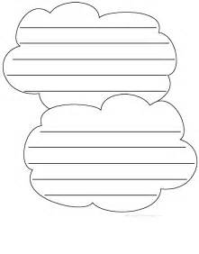 shaped writing template clouds shape poem printable worksheet