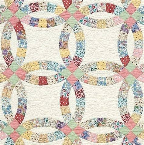 wedding ring quilt quiltsmart tutorial easy double wedding