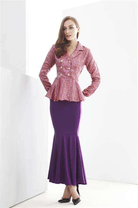 Irdina Top 2 pieces row button peplum top with mermaid style skirt dress shopping ezytred