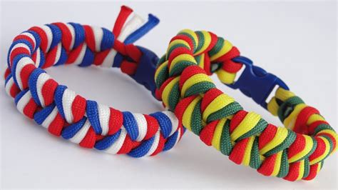Paracord 3 Strands How To Make An Easy 3 Strand Braid 3 Color Paracord