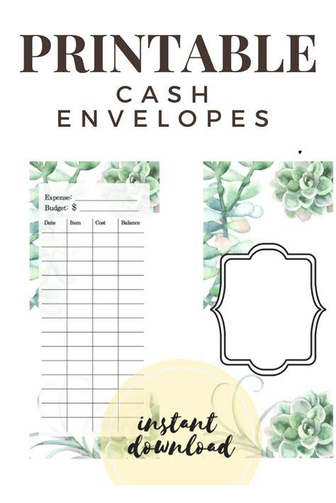 envelope budget system template printable diy envelope system envelope template