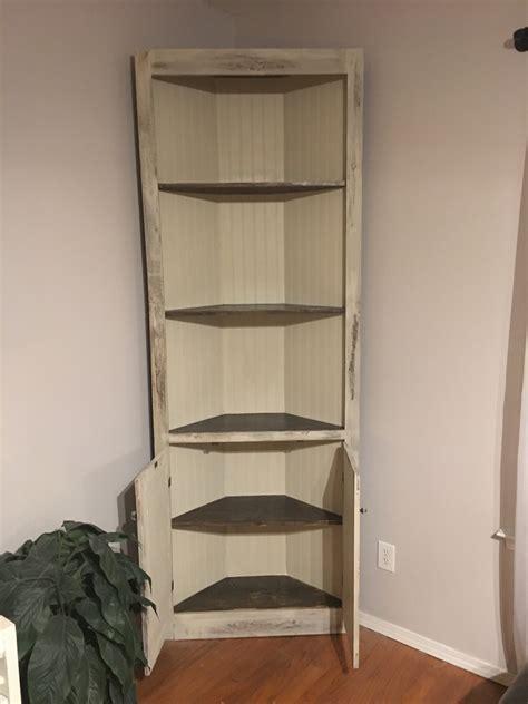 antique white corner cabinet ana white distressed antique white corner cabinet diy