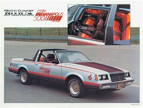 buick regal car 1981 indianapolis 500 buick regal pace car