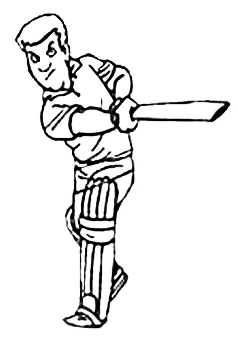 free coloring pages of cricket bats free online cricket batter colouring page kids activity