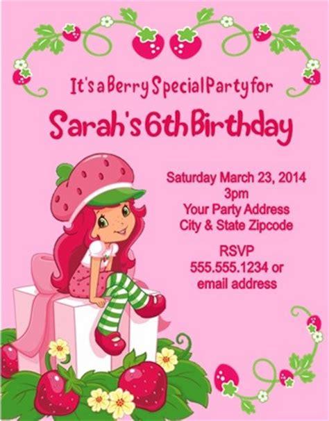 Free Printable Strawberry Shortcake Personalized Birthday Invitations Free Invitation Strawberry Shortcake Invitation Template Free
