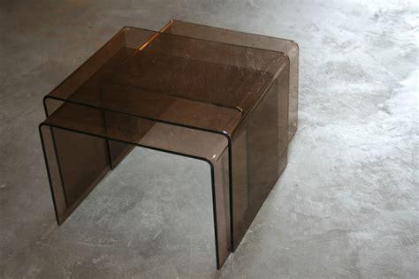 table gigogne plexi glass table gigogne vintage authentic and so