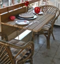 centrobazaar folding wooden hanging balcony table