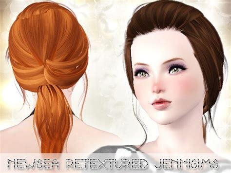 small ponytail hairstyle 228 by skysims sims 3 hairs 17 best images about sims on pinterest layered dresses