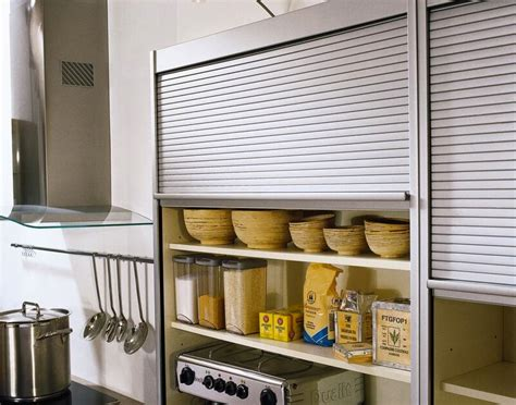 metal tambour doors for kitchen cabinets ideas