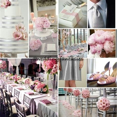 Pink And Grey Wedding Decorations grey white and baby pink wedding theme wedding theme