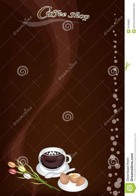 coffee menu wallpaper a coffee menu pattern on brown background stock image