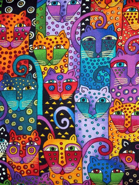 pattern cat art lesson cats laurel burch wikiart org