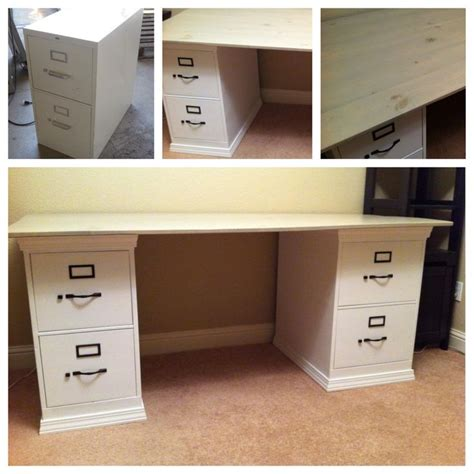 desk with file cabinets 17 best ideas about file cabinet desk on filing cabinet desk diy office desk and