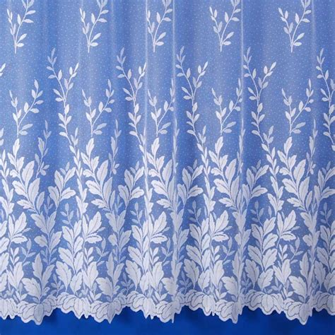 curtains leaves autumn leaves net curtain in white sold by the metre