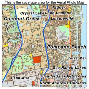 aerial photography map of pompano fl florida