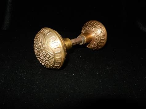 Door Knobs Sale by Vintage Fancy Brass Door Knobs Tag Sale Item From