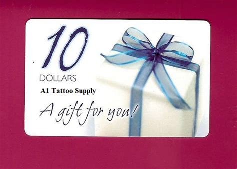 Tattoo Gift Card - free 10 gift card to a 1 tattoo supply first 1000