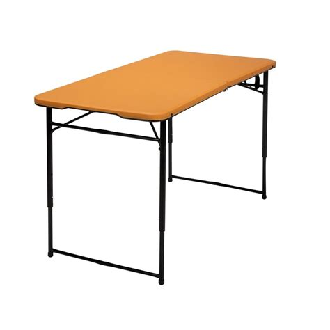 Adjustable Height Folding Table 4 Height Adjustable Folding Table In Orange 14402onb1e