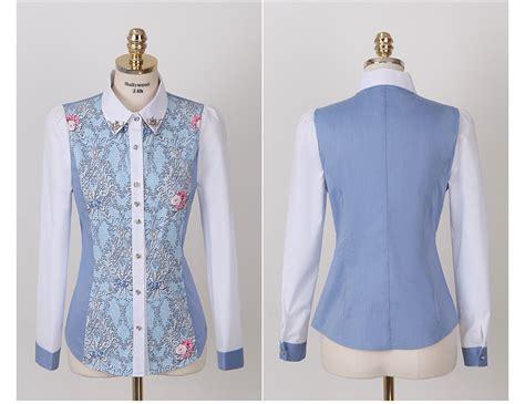 Baju Dress Cantik Brukat Bunga Putihnavy Limited kemeja wanita bunga cantik 2014 model terbaru jual