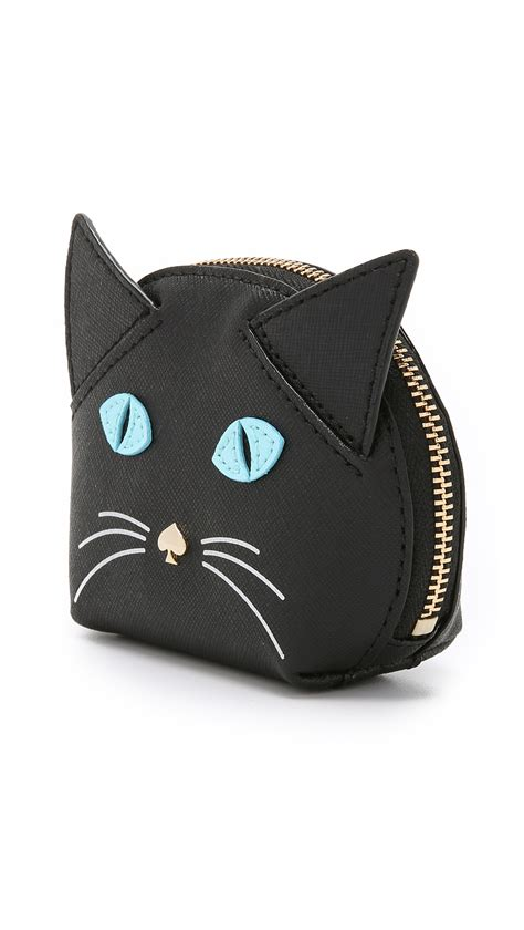Kate Spade New York Cat Ac1718 kate spade new york cat coin purse black multi in black lyst