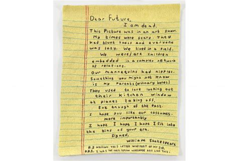 In Letter To Future Simon To The Future And The Future On