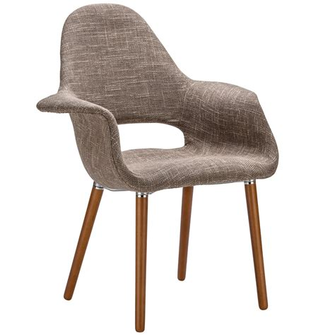 organic armchair eames saarinen style brown organic designer armchair