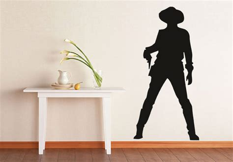cowboy wall stickers cowboy 1 wall decal west vinyl decoration