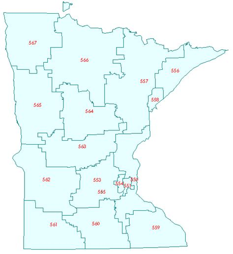 minneapolis zip code map 3 digit zip code map