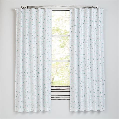 land of nod curtains go lightly mint triangle 63 quot blackout curtain the land